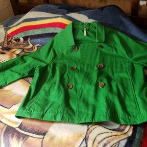Old Navy Green Pea Coat Style Blazer
